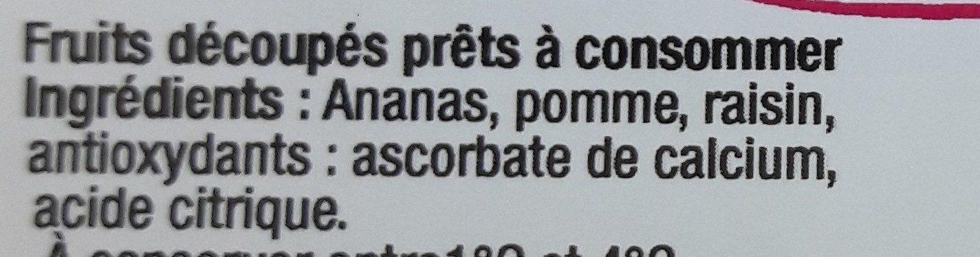 Salade 3 fruits - Ingrédients