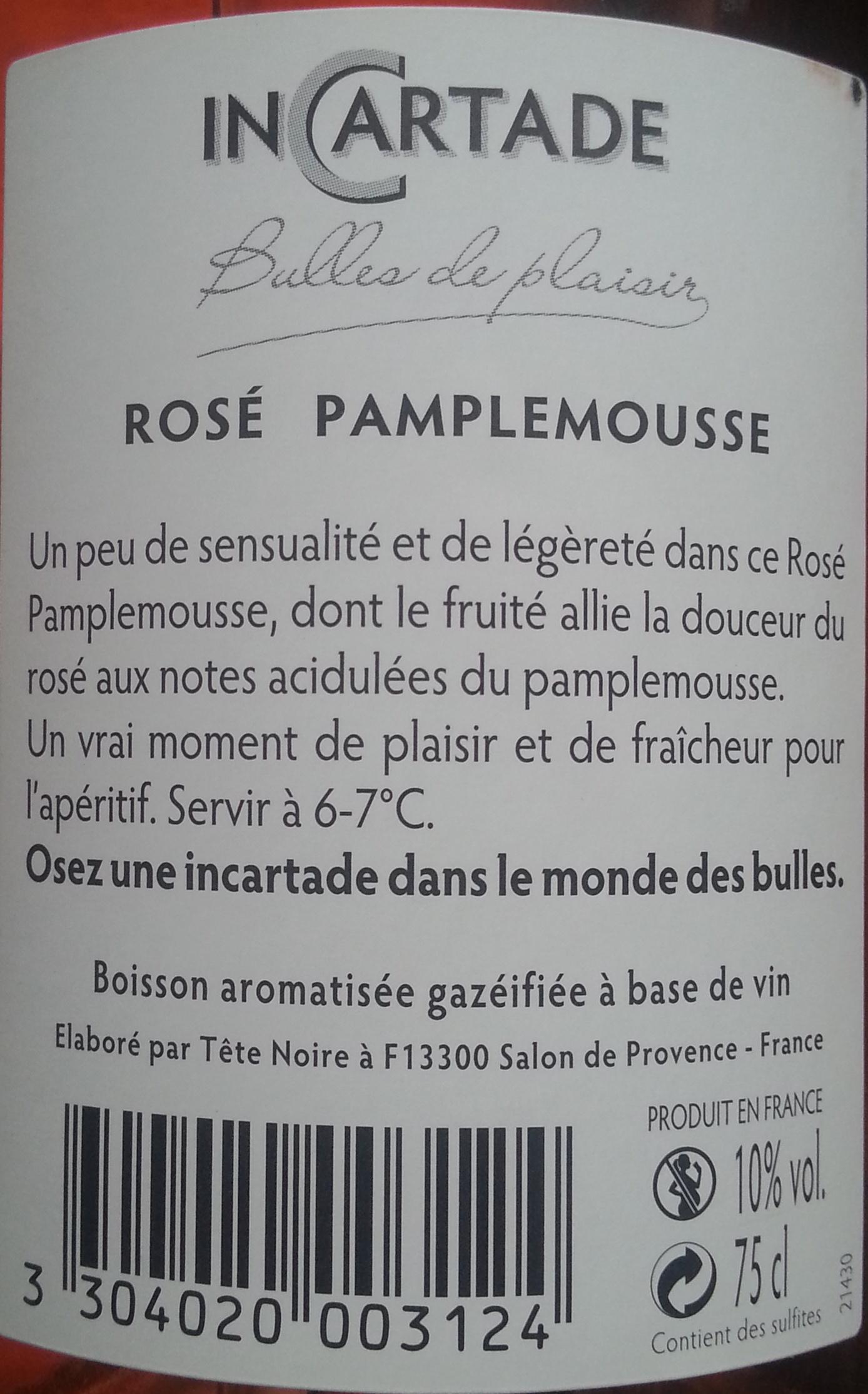 Rosé pamplemousse - Voedigswaarden