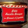 pâté recette basque au piment d'Espelette - Product