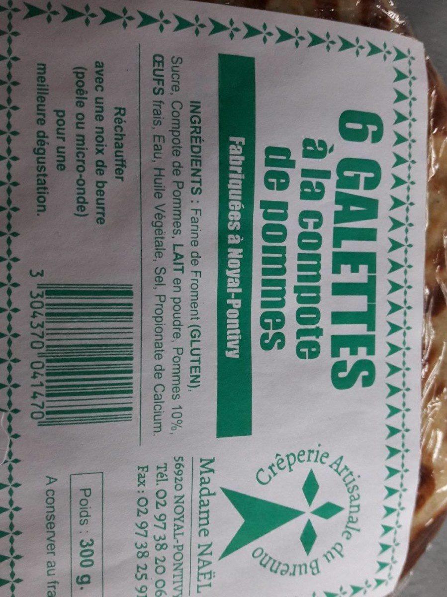 Galettes à la compote de pommes - Produit - fr