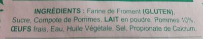 Galettes à la compote de pommes - Ingrédients - fr