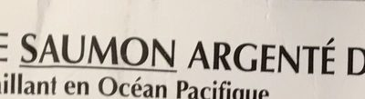 Darnes de Saumon argenté du Pacifique sauvage congelées - Ingrédients