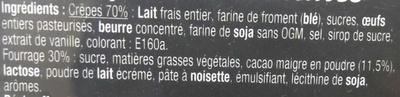 Crêpes Chocolatines - Ingrédients - fr