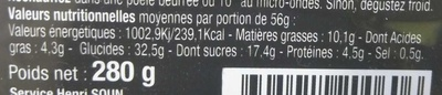 Crêpes Chocolatines - Informations nutritionnelles - fr