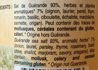 250G Seloplante Aux Herbes - Ingrédients