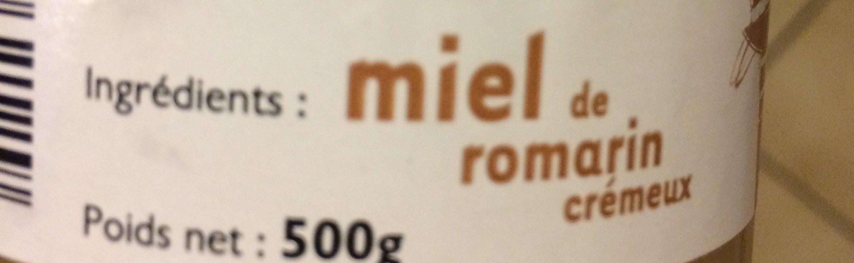 Miel de romarin - Ingrédients