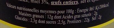 Terrine De Magret De Canard Au Miel - Informations nutritionnelles - fr