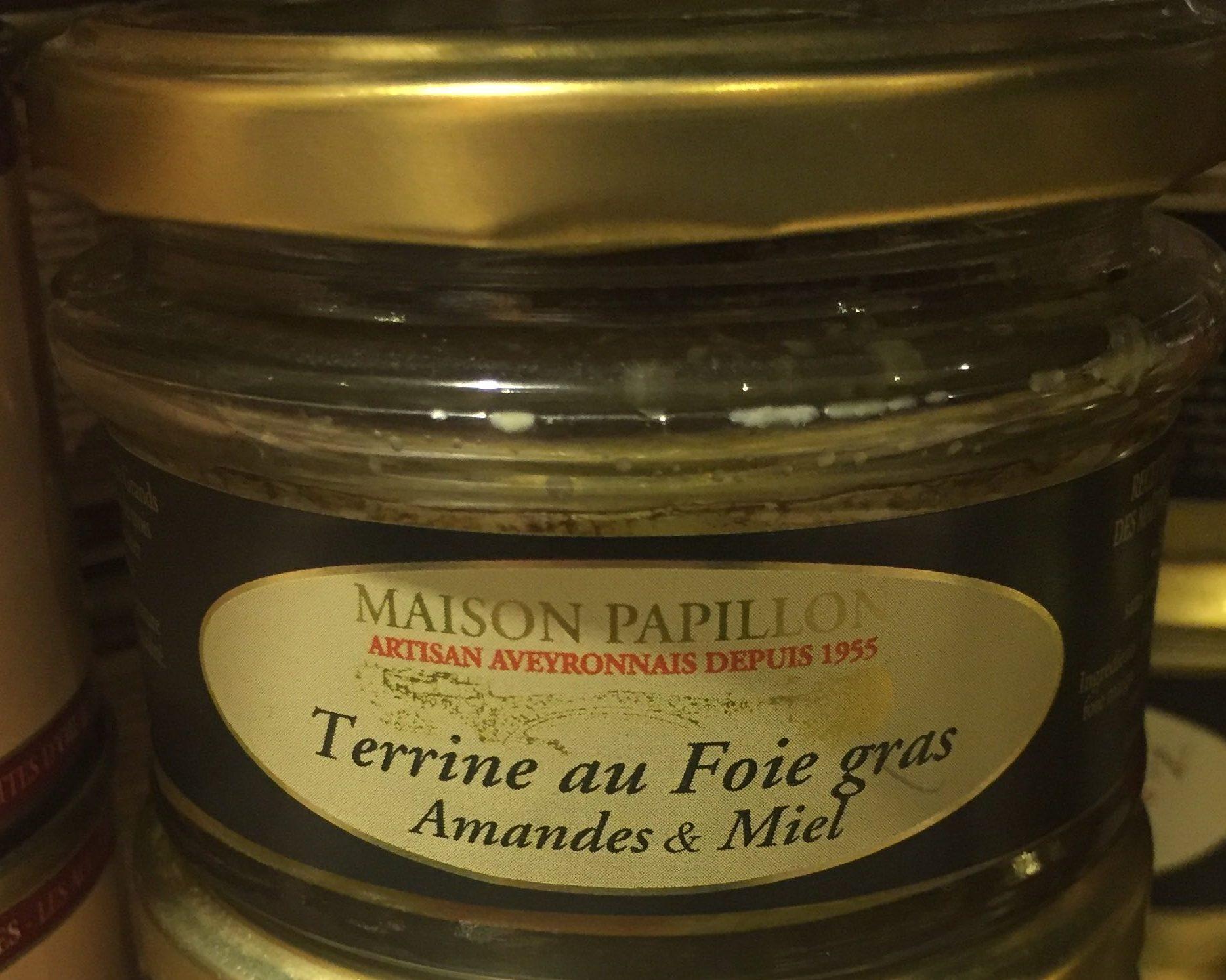 Terrine au Foie Gras, Amandes & Miel - Produit - fr