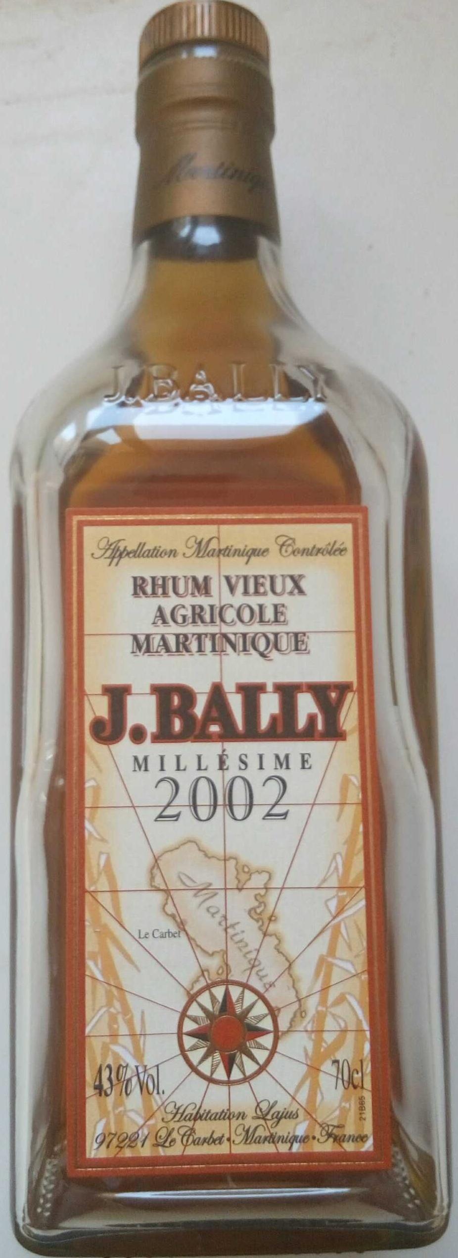 Rhum vieux agricole Martinique Millésime 2002 - Product
