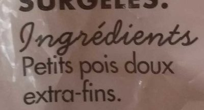 Petits pois doux extra-fins - Ingredients