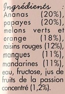 Salade de fruits exotiques - Ingrédients - fr