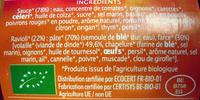 Ravioli Volaille - Ingrédients - fr