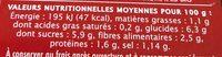 Sauce tomate Provencale aux fines herbes - Informations nutritionnelles