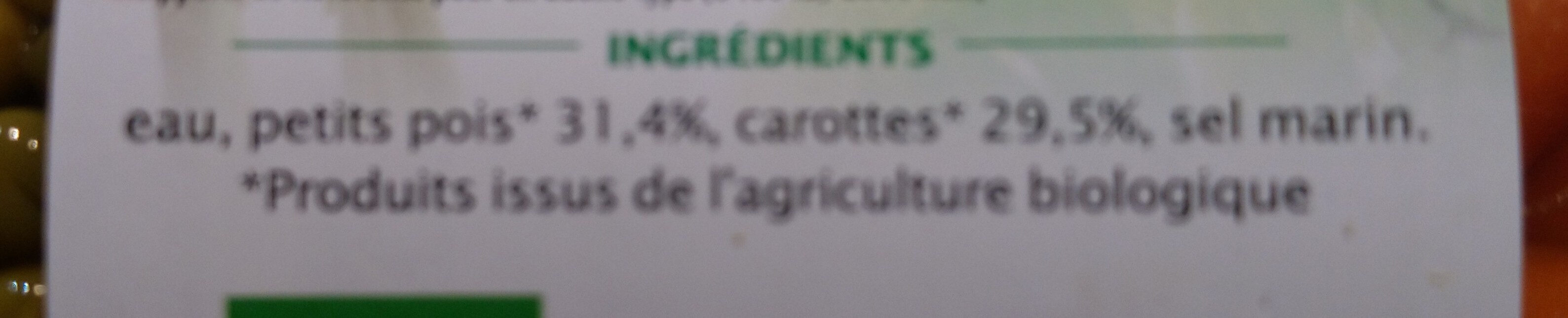 Petits pois et jeunes Carottes - Ingredienti - fr