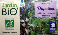 Infusion Digestion mélisse - romarin - menthe Jardin Bio - Product