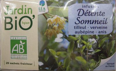 Infusion Détente Sommeil Jardin Bio - Product - fr