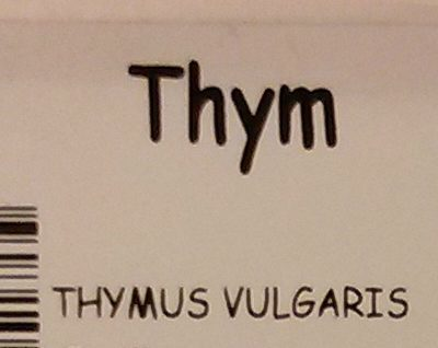 Thym - Ingredients