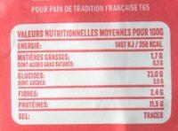 Farine de blé - Voedingswaarden - fr
