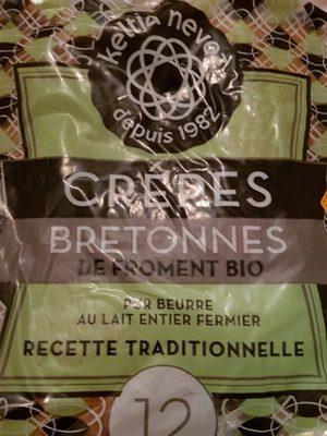12 Crêpes bretonnes de froment bio - Product
