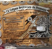 12 Crepes artisanales pur beurre Keltia Nevez, sachet de 1 x - Produit - fr