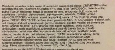 Cocktail de Crevettes - Ingrédients - fr