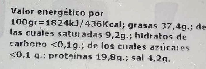 - Voedingswaarden - es