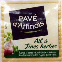 Pavé d'Affinois Ail & Fines herbes - Produit - fr