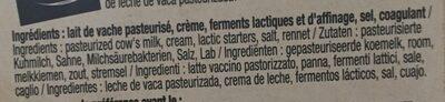 Pavé d'affinois l'Original - Ingrediënten - fr