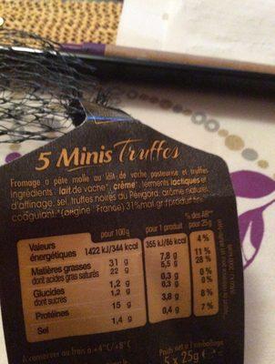 Pavé d'Affinois aux truffes noires du Périgord - Ingredients