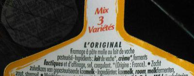 PAVÉ D'AFFINOIS 3 variétés - Ingrediënten - fr