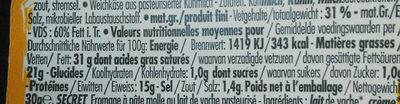Fromages à pâte molle Minis Mix - Nutrition facts