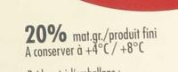 Pavé d'Affinois (lot de 2) (20% MG) - Voedingswaarden - fr