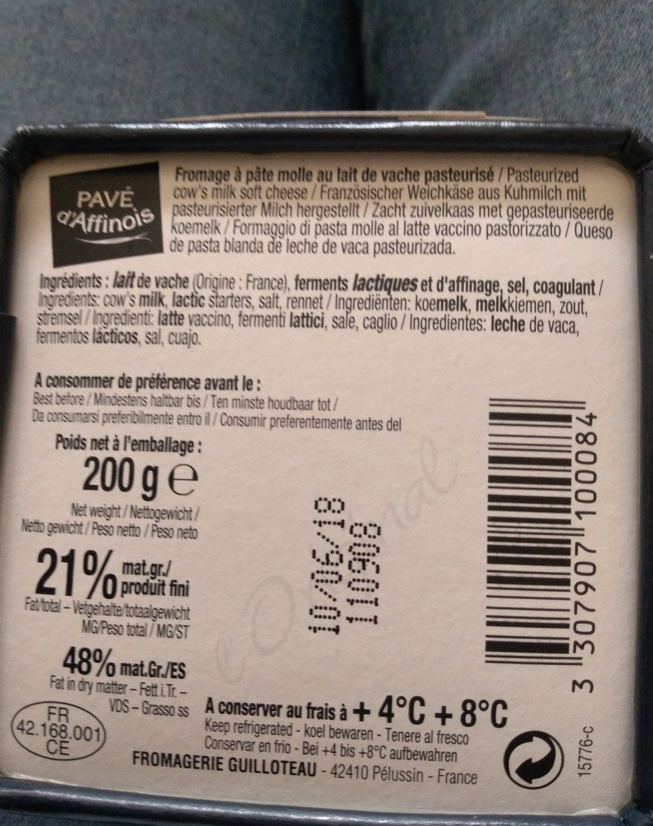 L'Original - Ingredients - fr