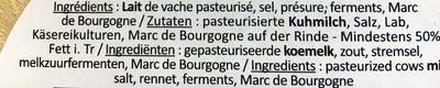 Epoisses AOP Affiné au Marc de Bourgogne - Ingredients - fr