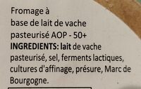 Epoisses AOP - Ingrediënten