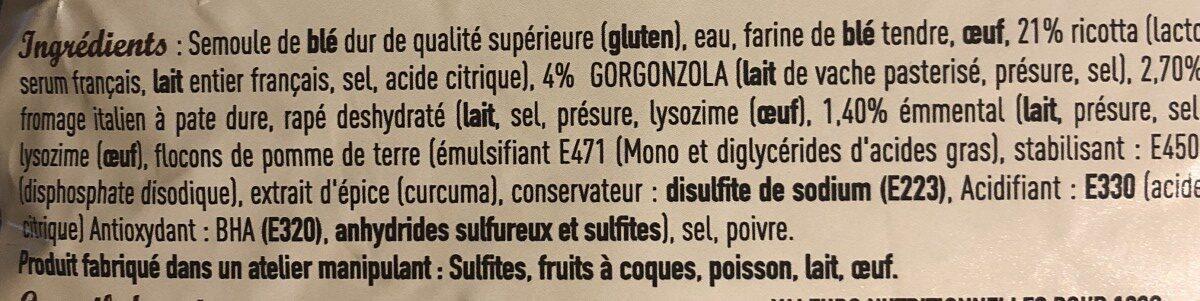 Ravioli 4 Fromages - Ingredienti - fr