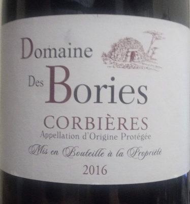 Domaine des Bories - Corbières AOP - Produit - fr