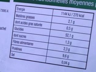 Tagliatelles - Nutrition facts
