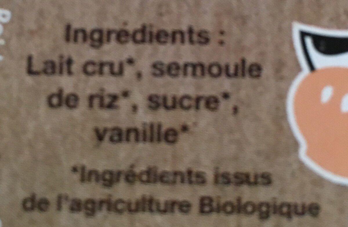 Semoule de riz à l'ancienne - Ingredients - fr