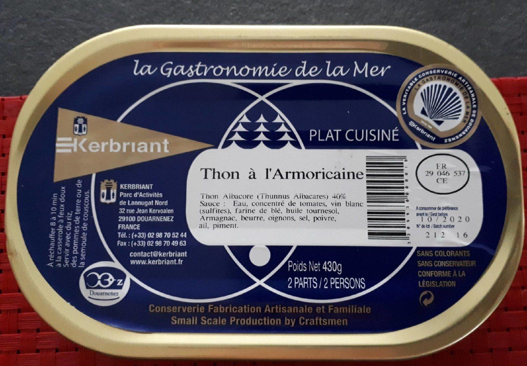 Thon à l'Armoricaine - Produit - fr