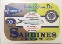 Sardines a L'huile D'olive Bio Au Citron - Product - fr