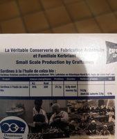 Sardine a L'huile De Colza Bio - Ingrédients - fr