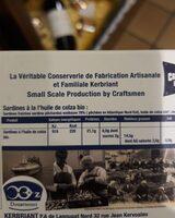 Sardine a L'huile De Colza Bio - Informations nutritionnelles - fr