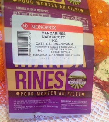 Mandarines Nadorcott - Produit