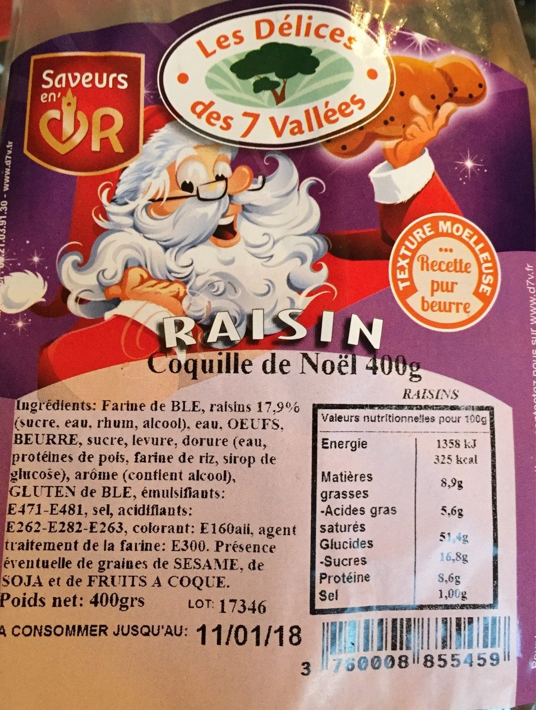 Coquille de Noël Raisin - Product