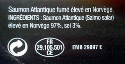 Saumon fumé Norvège - Ingredients - fr