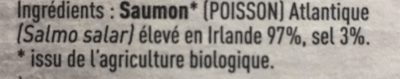 Bio pure origine saumon fumé - Ingredients