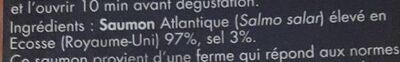 Saumon fumé  prestige ecosse - Ingredienti - fr