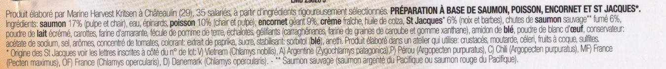 Délice Saumon/St Jacques - Ingrédients - fr