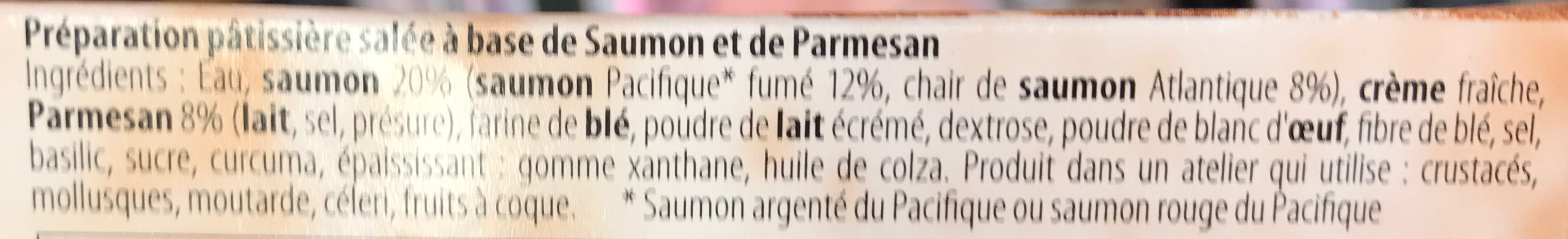 Apéri' Clafoutis au Saumon & Parmesan - Ingredients - fr